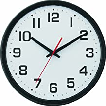 Tempus® Wide Profile Wall Clock with Dual Electric/Battery Operation and Daylight Saving Time Auto-Adjust Movement, 13.75