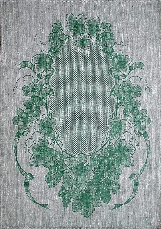 Linen Green Jacquard Glass Large 31 X 22 Tea Towel By Ulster Linen