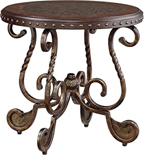 Signature Design by Ashley - Rafferty Traditional Round End Table, Vintage Brown