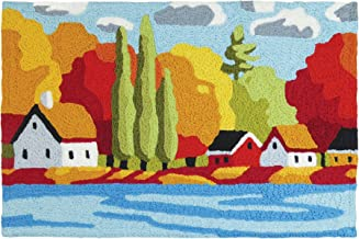 Jellybean an Autumn Day in The Village by The Lake Indoor Outdoor Accent Rug