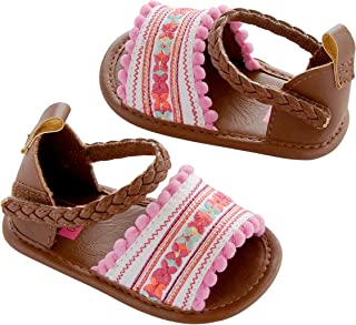 35167ec37 Carter's Baby Girl Crib Shoe Multi-Color/Embroidered, Newborn Sandal