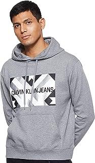 سترة بغطاء للرأس بتصميم صندوق لحاف للرجال من Calvin Klein جينز