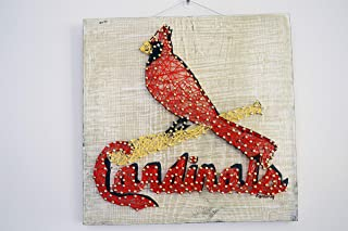 St Louis Cardinals String Art Sign, STL Cardinals String Art, St Louis Cardinals Decor, St Louis Cardinals Gift, Made to Order