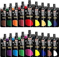 Acrylic Paint, Shuttle Art 18 Colors Acrylic Paint Pouches (120ml/4.06oz), Artist Grade Acrylic Paint Set, Rich Pigments, ...