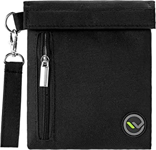Smell Proof Bag Double Velcro Lock Protection Guard Stash Container Water Resistant Odor Scent Eliminator Storage Case For Herbs Coffee Tea Oils and Smelly Accessories (7 x 6)