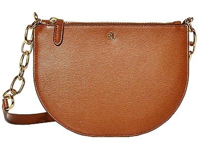 LAUREN Ralph Lauren Saffiano Sutton 22 Crossbody Medium (Lauren Tan) Handbags