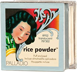 Palladio Rice Powder, Translucent, Loose Setting Powder, Absorbs Oil, Leaves Face Looking and Feeling Smooth, Helps Makeup Last Longer For a Flawless, Fresh Look