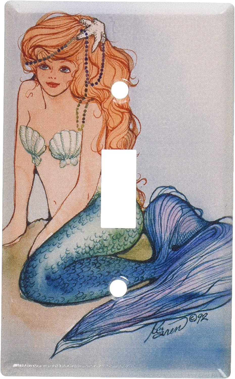 Art Plates Mermaid Switch Plate Outlet Cover Mermaid Light Switch Cover Amazon Com