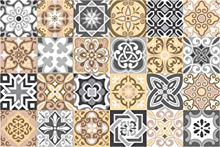 GSS Designs 24 PC Pack Tile Stickers Bathroom & Kitchen Tile Decals Stairs/Backsplash/Wall Stickers 4x4 Inch -10x10cm (TS24-006)