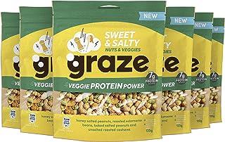 Graze Sweet & Salty Veggie Protein Power Groente- en Notenmix Snack - 6 x 120 g