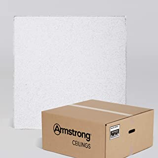 Armstrong Ceiling Tiles; 2x2 Ceiling Tiles – HUMIGUARD Plus Acoustic Ceilings for Suspended Ceiling Grid; Drop Ceiling Tiles Direct from the Manufacturer; CIRRUS Item 584 – 12 pcs White Tegular