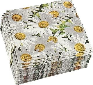 navy floral paper napkins