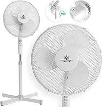 KESSER 50 Watt 40cm Standventilator   Oszillations   extra leise max. 57dB   Ventilator 3 Geschwindigkeitsstufen   verstellbarer Neigungswinkel in 3 Stufen   höhenverstellbar 103 bis 118cm Schwarz