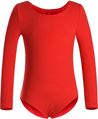 DANSHOW Girls' Team Basic Long Sleeve Leotard for Toddler Gymnastics Dance Ballet