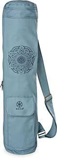 "Gaiam Embroidered Cargo Yoga Mat Bag, Niagara, 30"" L x 6"" diameter"
