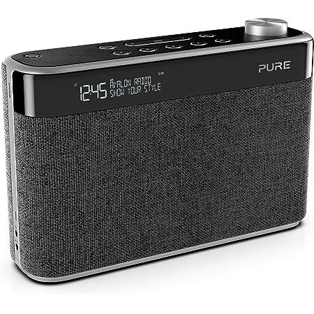 Pure Avalon N5 Bluetooth Digitalradio Dab Dab Und Ukw Radio Mit Bluetooth Pop Taste Zur Lautstärkeregelung Weckfunktionen Küchen Und Sleep Timer 10 Senderspeicherplätze Aux Kohle Charcoal Heimkino Tv Video