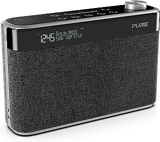 Pure Avalon N5 Bluetooth Digitalradio (DAB/DAB+ und UKW Radio mit Bluetooth, Pop Taste zur Lautstärkeregelung, Weckfunktionen, Küchen  und Sleep Timer, 10 Senderspeicherplätze, AUX), Kohle, Charcoal