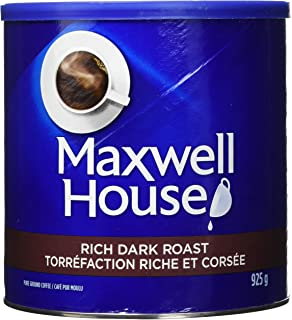 Maxwell House Rich Dark Roast Ground Coffee, 925g