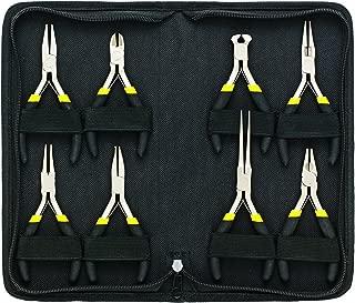 General Tools 938 Technician's Mini Plier Set, 8-Piece, With Zipper Case