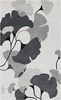 Surya Cosmopolitan COS-9172 Contemporary Hand Tufted 100% Polyester Icicle 2' x 3' Floral Accent Rug