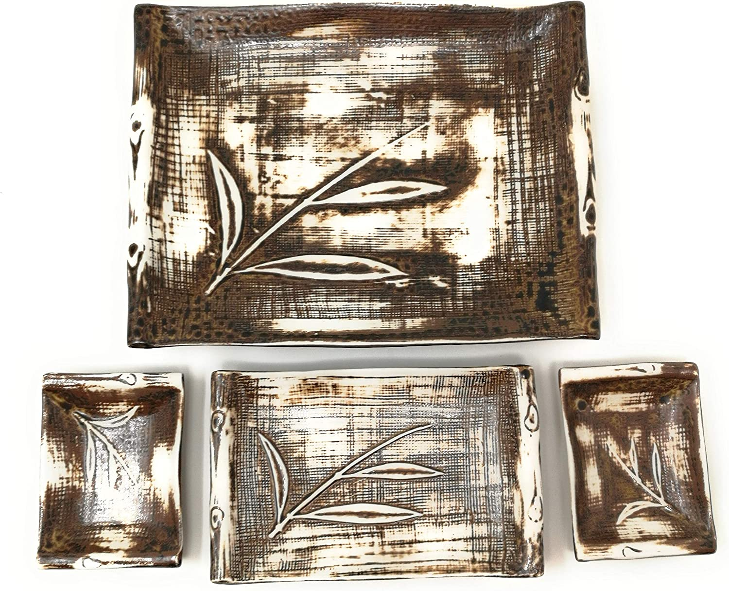 TJ Global Ceramic Today's only Japanese Sushi Bargain sale for Plate Set Large 2 One