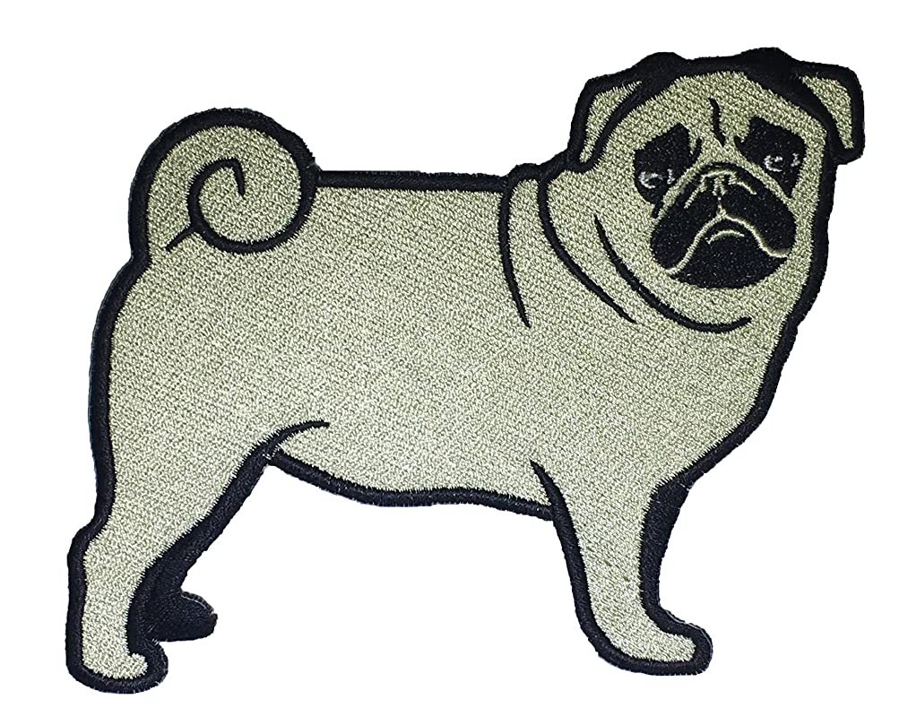 Pug Dog Breed Lover Sew On Embroidered Patch