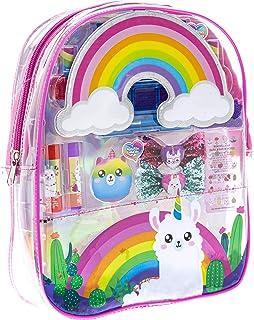 Townley Girl No Drama Llama Makeup Filled backpack Set with 37 Pieces, Including Lip Gloss, Lip Balm, Nail Polish, Nail St...