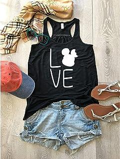 Disney Ear Bite Love/Women's Tank/Bella Canvas Flowy Tank/Love Disney Tank Top/Women's Eco Tri-Blend Tanks/Women Clothing/Disney Trip Tank/Screen Printing W. Eco Ink/