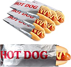 Stock Your Home Hot Dog Wrappers (200 Count) - Aluminum Foil Hot Dog Sleeves - Grease Resistant Hot Dog Bags for Snack Bar...
