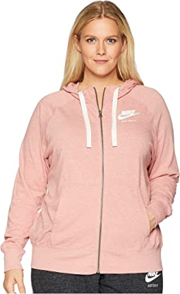 Plus Size Gym Vintage Full Zip Extended Hoodie
