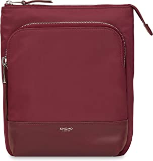 "Knomo Mayfair Capsule Carrington, 10"" Mini Cross-Body Bag, Water-Resistant with RFID Pocket, Berry"