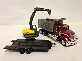 INTERNATIONAL LONESTAR, DUMP TRUCK w/EXCAVATOR 1:43 SCALE 18