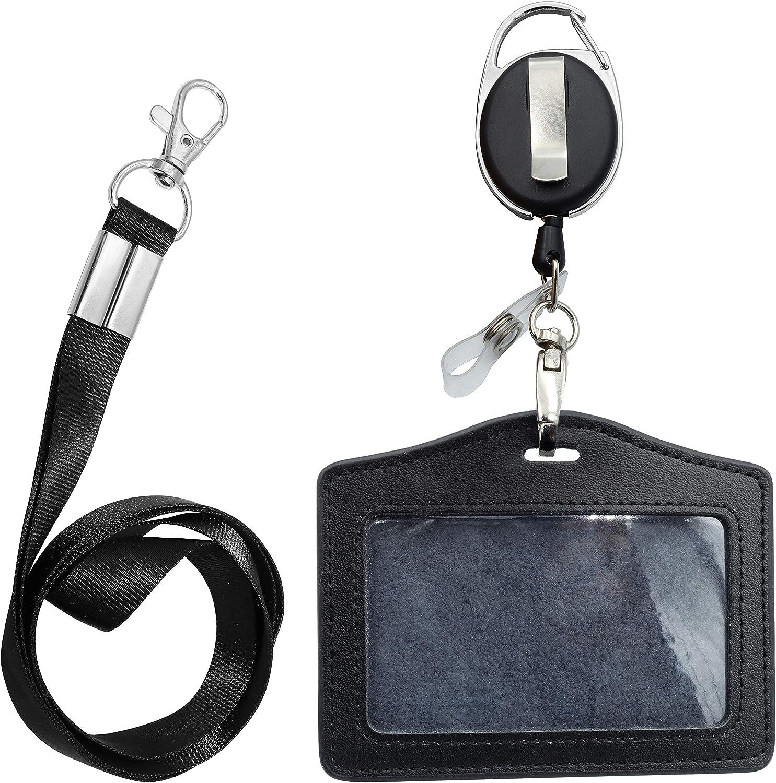 ID Card Case + Beauty products Lanyard Carabiner Badge Reel Holder Popular overseas Retractable