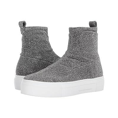 Kennel & Schmenger Glitter Sock Boot (Silver Stretch Lurex) Women