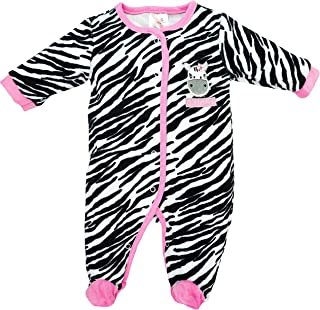 BabyTown Baby Mädchen Schlafstrampler Schlafanzug aus Nicki