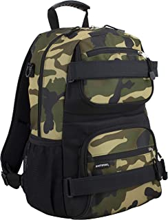 New Double Strap Skater Multipurpose Backpack, Army Camo