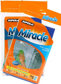 Superio Miracle Glass & Mirror Cloth 2-Pack (2)