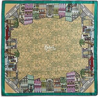 Kinloch, Foulard La Habana Pesca cm 70x70, 100% seta, orlato a mano, Made in Italy