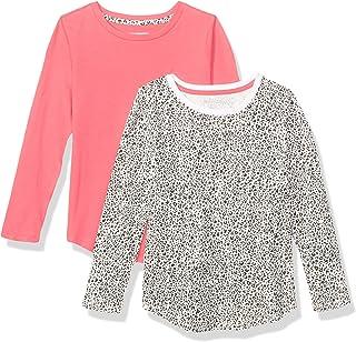 Amazon Essentials Girls' 2-Pack Long-Sleeve Tees Niñas, Pack de 2