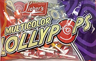 Lieber's MultiColor Lollypops Kosher For Passover 12 Oz. Pack Of 3.