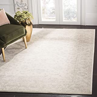 Safavieh Carnegie Collection CNG621C Vintage Cream and Light Grey Distressed Area Rug (6'7