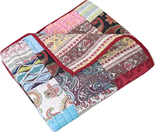 Greenland Home Bohemian Dream Quilted Patchwork Throw