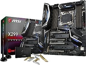 MSI Performance Gaming Intel X299 LGA 2066 DDR4 USB 3.1 SLI ATX Motherboard (X299 Gaming PRO Carbon AC) (Renewed)