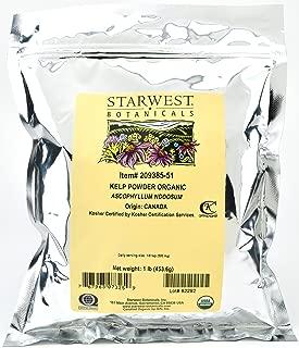 Starwest Botanicals Organic Kelp Powder, 1 Pound (Pack of 2)