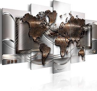 Refosian Carte du monde pour la fixation des /épingles Tableau sur toile 90x60 cm 1 partie Panneau de fibres de bois Image d/écorative sur toile tableau noir pour notes voyage g/éographie k-A-0120