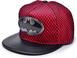 REINDEAR Batman Metal Logo Baseball Cap w/Black Mesh Hip-hop Snapback Hat US Seller