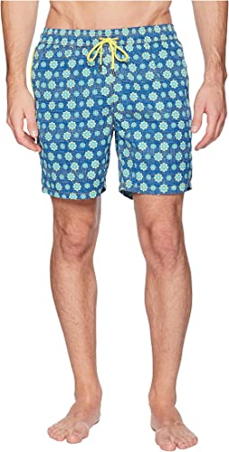 Spin Wheel Elastic Printed Swim Trunk