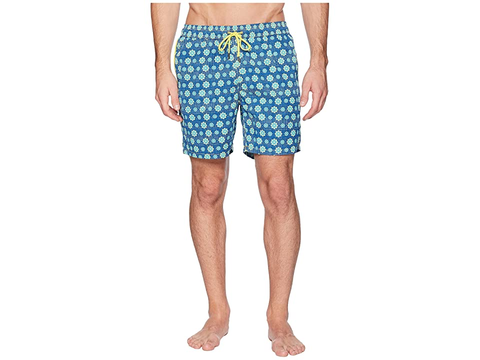 Mr. Swim Spin Wheel Elastic Printed Swim Trunk (Navy) Men