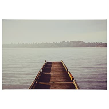 Wooden Dock at the Lake Canvas Print, 36  x 24