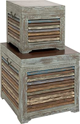 Plutus Brands The Gems Wood Trunk (Set of 2)